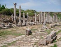 Roman Ruins i Turkiet Arkivbild