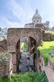 Roman ruins - Imperial fora, Rome Stock Photo