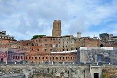 Roman ruins. In italian capital Stock Image