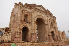 Roman Ruins in Jerash Stockfotos