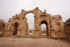 Roman Ruins in Jerash Lizenzfreie Stockfotos