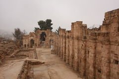 Roman Ruins in Jerash. Jordan stock photography