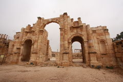 Roman Ruins in Jerash Royalty Free Stock Photos