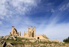 Roman ruins at Jerash in Jordan. Roman ruins at UNESCO world heritage site Jerash in Jordan royalty free stock photography