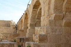 Roman ruins in the Jordanian city of Jerash (Gerasa of Antiquity), capital and largest city of Jerash Governorate, Jordan Royalty Free Stock Photos