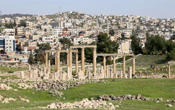 Roman ruins in the Jordanian city of Jerash (Gerasa of Antiquity), capital and largest city of Jerash Governorate, Jordan Stock Images