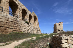 Roman ruins in the Jordanian city of Jerash (Gerasa of Antiquity) Royalty Free Stock Image