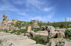 Roman ruins in the Jordanian city of Jerash (Gerasa of Antiquity) Royalty Free Stock Photography