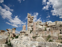 Roman ruins in the Jordanian city of Jerash (Gerasa of Antiquity) Royalty Free Stock Photo