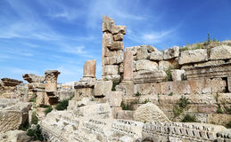 Roman ruins in the Jordanian city of Jerash Stock Photo