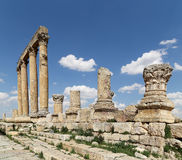 Roman ruins in the Jordanian city of Jerash (Gerasa of Antiquity), Jordan Royalty Free Stock Image