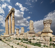 Roman ruins in the Jordanian city of Jerash (Gerasa of Antiquity), Jordan Stock Photo