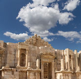 Roman ruins in the Jordanian city of Jerash (Gerasa of Antiquity), Jordan Stock Images