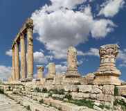 Roman ruins in the Jordanian city of Jerash (Gerasa of Antiquity), Jordan Royalty Free Stock Photos