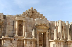 Roman ruins in the Jordanian city of Jerash (Gerasa of Antiquity), Jordan Royalty Free Stock Images