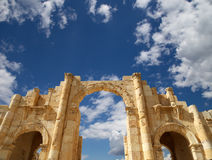 Roman ruins in the Jordanian city of Jerash (Gerasa of Antiquity), Jordan Royalty Free Stock Photography