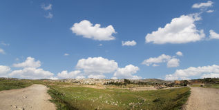 Roman ruins in the Jordanian city of Jerash (Gerasa of Antiquity),Jordan Royalty Free Stock Photography