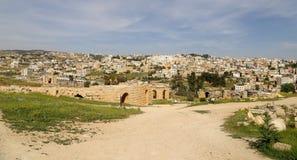 Roman ruins in the Jordanian city of Jerash (Gerasa of Antiquity), Jordan Royalty Free Stock Photography