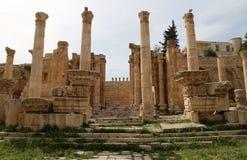 Roman ruins in the Jordanian city of Jerash (Gerasa of Antiquity), Jordan Stock Images