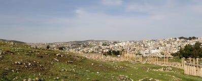 Roman ruins in the Jordanian city of Jerash (Gerasa of Antiquity), Jordan Stock Photography