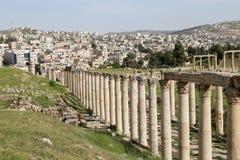 Roman ruins in the Jordanian city of Jerash (Gerasa of Antiquity), Jordan Royalty Free Stock Photo