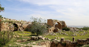 Roman ruins in the Jordanian city of Jerash, Jordan Stock Photography
