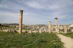 Roman ruins in the Jordanian city of Jerash, Jordan Royalty Free Stock Photography