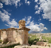 Roman ruins in the Jordanian city of Jerash, Jordan Royalty Free Stock Photography