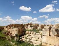 Roman ruins in the Jordanian city of Jerash, Jordan Royalty Free Stock Image