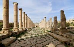 Roman ruins in the Jordanian city of Jerash, Jordan Stock Photography