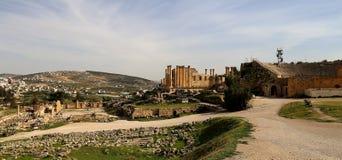 Roman ruins in the Jordanian city of Jerash, Jordan Stock Photo