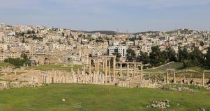 Roman ruins in the Jordanian city of Jerash, Jordan Royalty Free Stock Photos