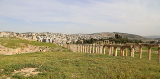 Roman ruins in the Jordanian city of Jerash, Jordan Royalty Free Stock Photos