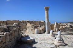 Roman Ruins Kourion, Cypern Royaltyfria Foton