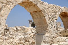 Roman Ruins at Kourion, Cyprus Royalty Free Stock Photos