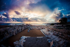 Roman Ruins at Kourion. Limassol District. Cyprus Stock Image