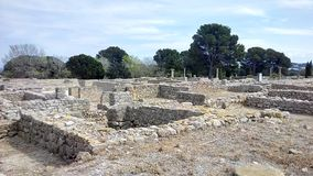 Roman Ruins. At L& x27;Escala Empuries Royalty Free Stock Image