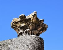Roman ruins of Mérida Spain - ancient treasures. Mérida is the capital of the autonomous community of Extremadura, western central Spain. The population is 60 Stock Image