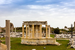 Roman ruins on the Mediterranean coast. Stock Images