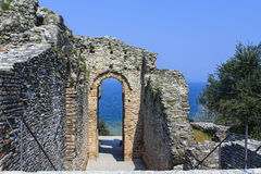 Roman ruins near Sirmione. Royalty Free Stock Photo
