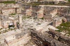 Roman ruins. The Old Roman Baths of Odessos, Varna, Bulgaria Stock Photo
