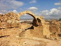 Roman Ruins in Pafo Fotografia Stock Libera da Diritti