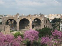 roman-ruins-on-palatine-hill Stock Images