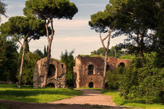 Roman ruins on the Palatine Hill in Rome Royalty Free Stock Images