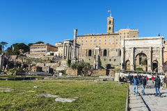 Roman ruins of the Palatino in Rome, Italy Stock Photography
