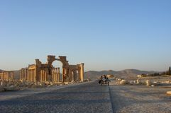 Roman Ruins of Palmyra. The roman ruins of Palymra in Syria, a UNESCO World Heritage site stock images