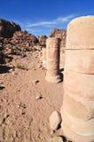 Roman Ruins in Petra, Jordan. Roman ruins in Nabataeans capital city (Al Khazneh), Petra, Jordan stock photos
