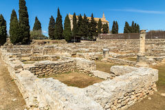 Roman ruins of Pollentia. The ruins are located near Alcudia's town centre. These are the remains of the residential area of Pollentia, a Roman settlement Royalty Free Stock Image