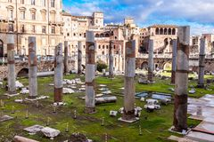 Roman ruins in Rome. Royalty Free Stock Photography