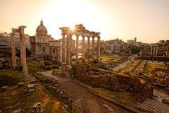 Roman ruins in Rome, Capital city of Italy Royalty Free Stock Image